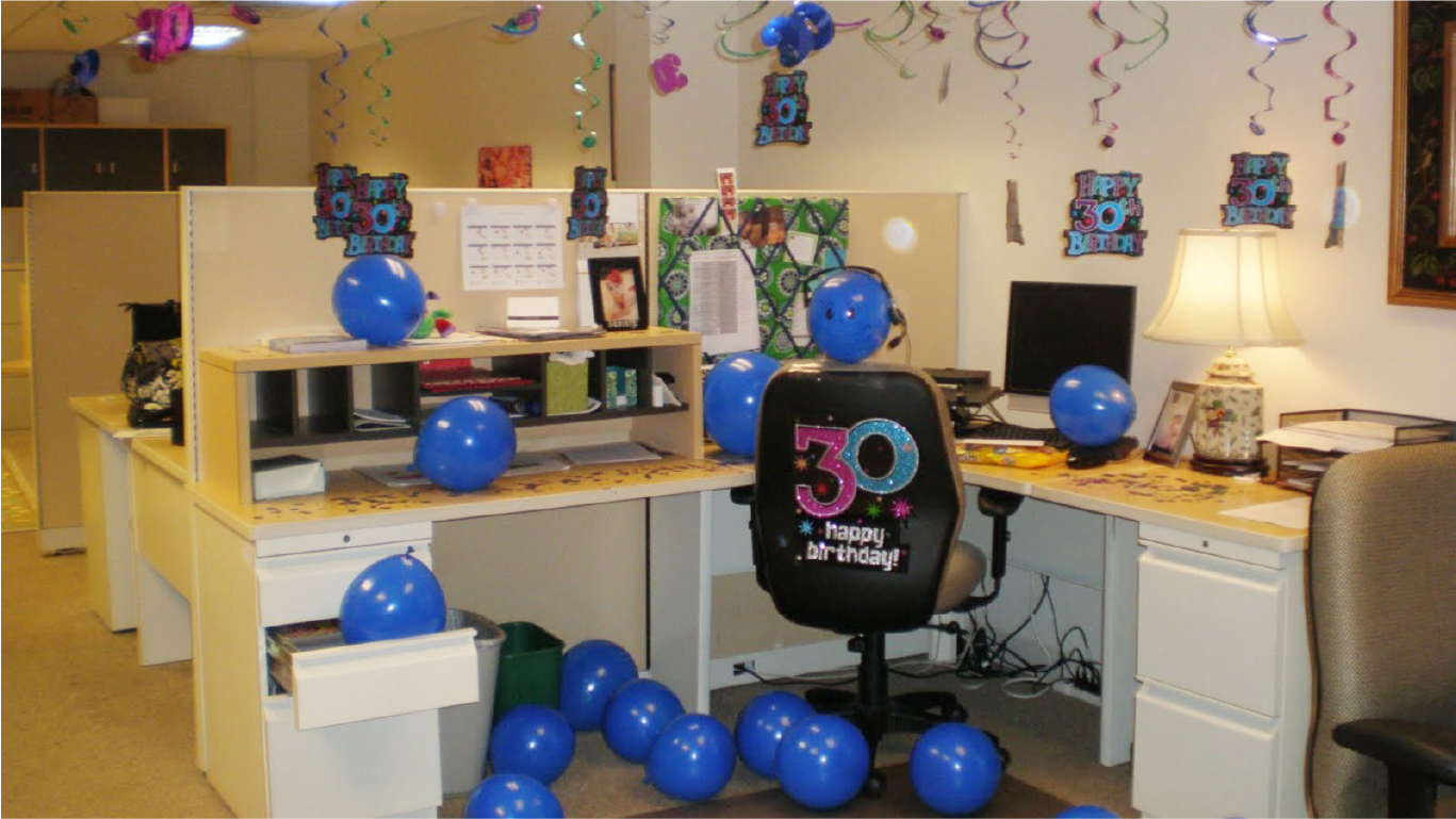Decorate it for an office birthday celebration!