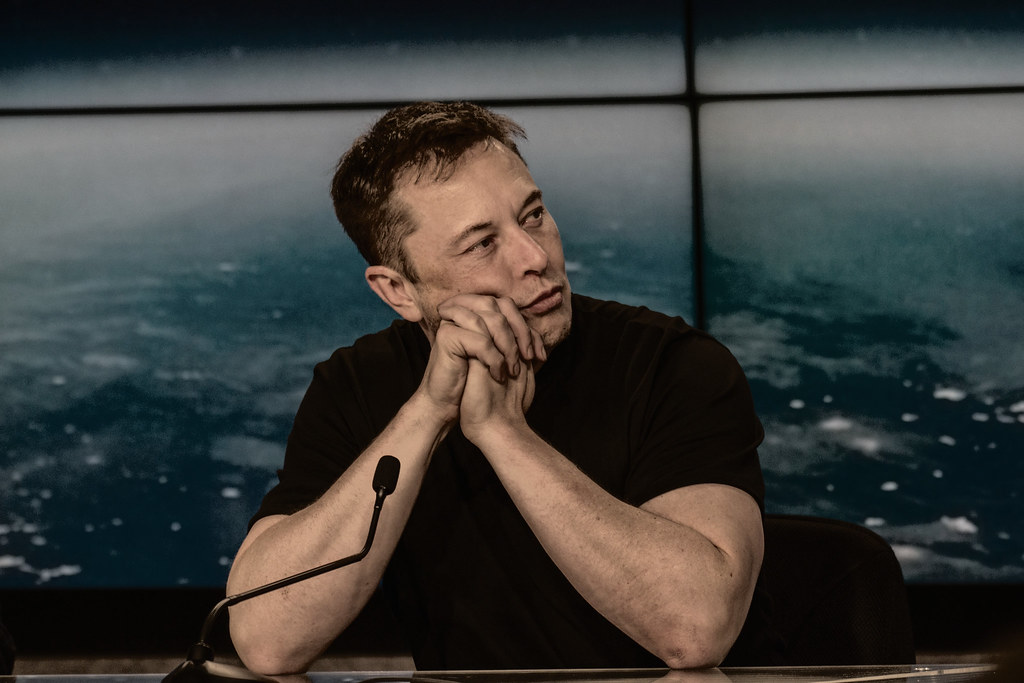 Elon,during the SpaceX launch event