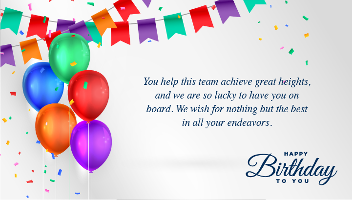 Happy Birthday Wishes for Employees