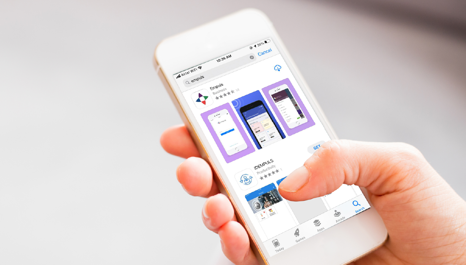 Empuls is available on iOS and Android devices.