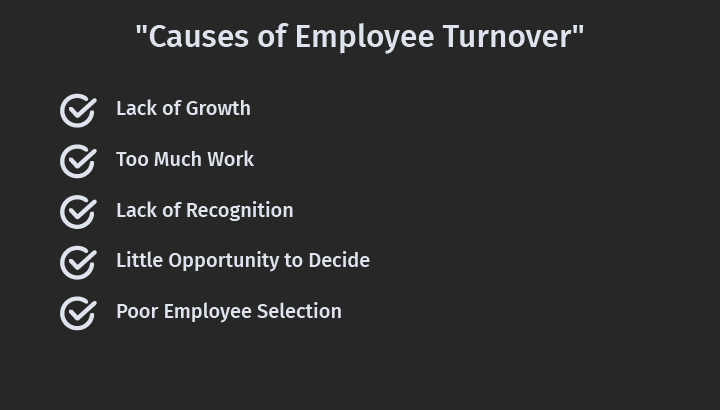 Causes of Employee Turnover
