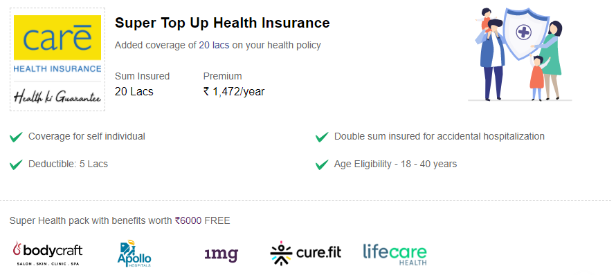 Specifics of the Super Top-Up health insurance.