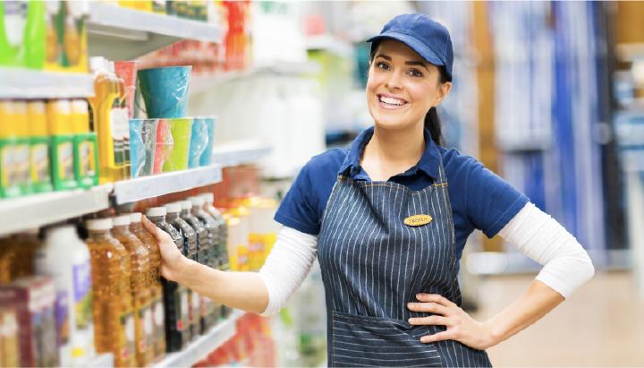 A retail employee