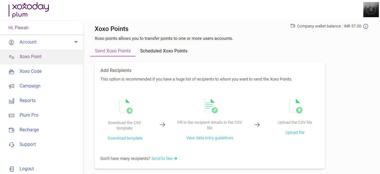 This change in the bulk upload mechanism would ensure a smooth admin experience in rewarding multiple users.