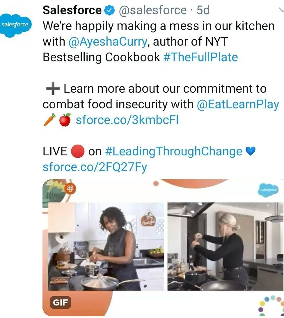 Example of Employee Branding - Salesforce
