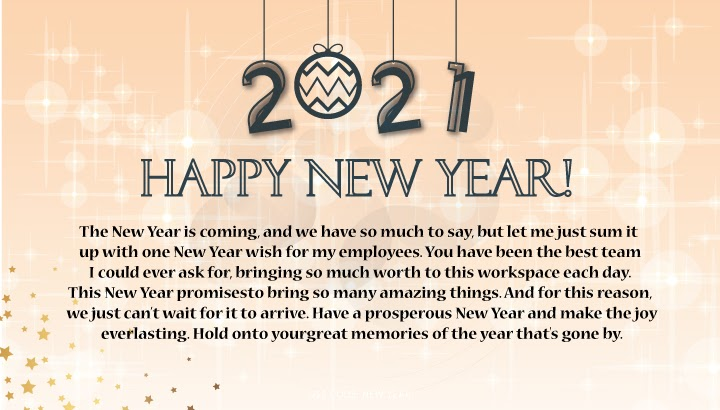 Happy New Year Messages for Employees