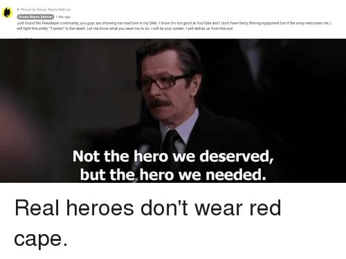 Batman The Hero We Need - love quotes