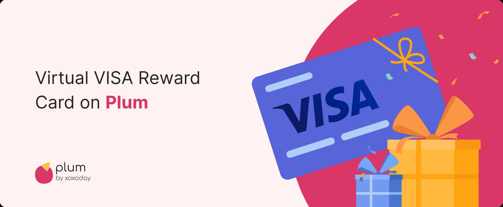 Virtual Visa reward card on Plum