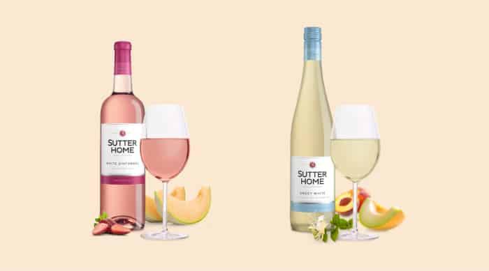 Sweet white wine: Sutter Home White Zinfadel