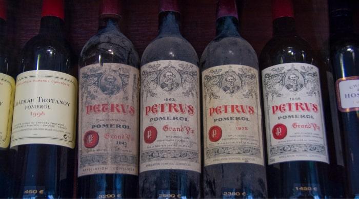 Rare wine: Pétrus, Pomerol, 1999