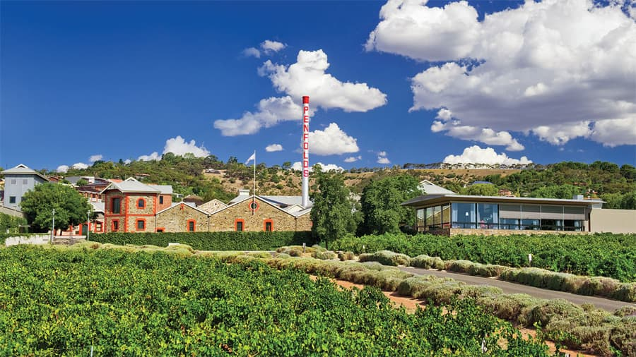 Penfolds' properties and varietals grown