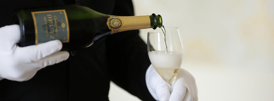 Pouring Champagne in a Glass