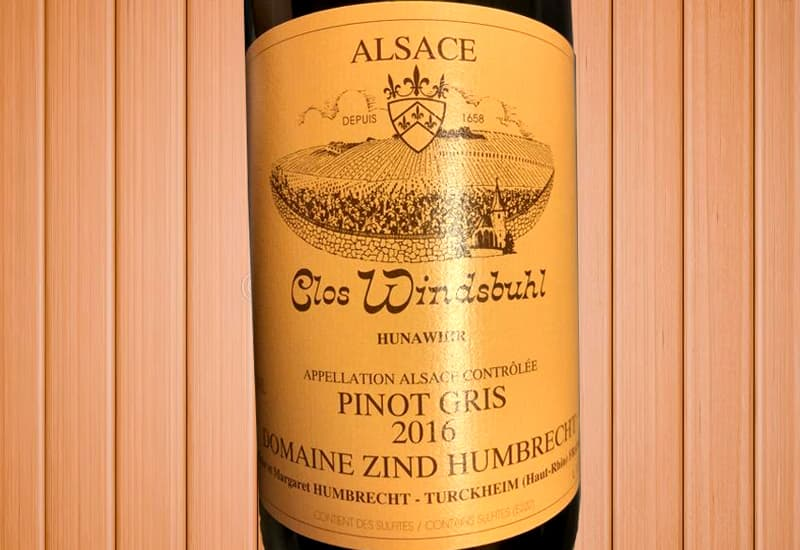 2016 Domaine Zind-Humbrecht Pinot Gris Clos Windsbuhl, Alsace, France