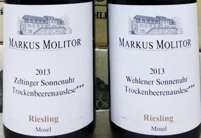 Markus Molitor Wehlener Sonnenuhr Riesling Trockenbeerenauslese 2013