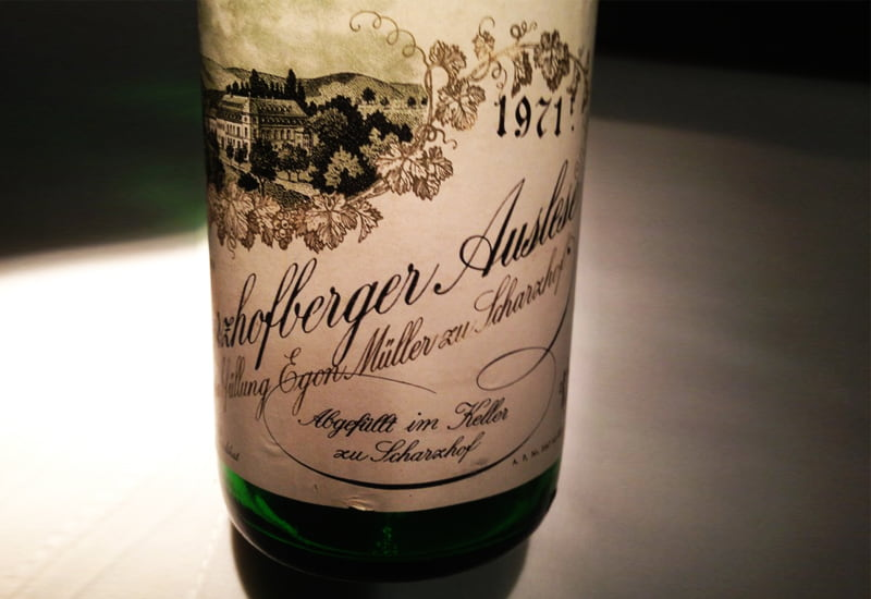 Egon Muller Scharzhofberger Riesling Beerenauslese 1971