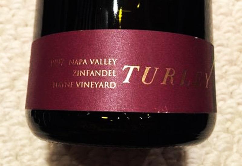 1997 Turley Wine Cellars Moore Earthquake Vineyard Zinfandel, Napa Valley, USA