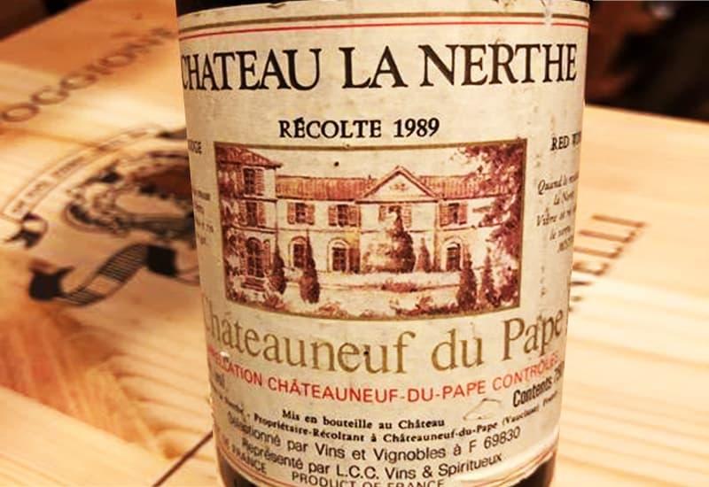 1989 Chateau La Nerthe Chateauneuf-du-Pape