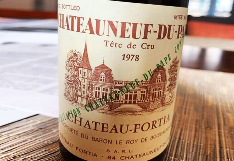 1978 Chateau Fortia Chateauneuf-du-Pape Tradition.