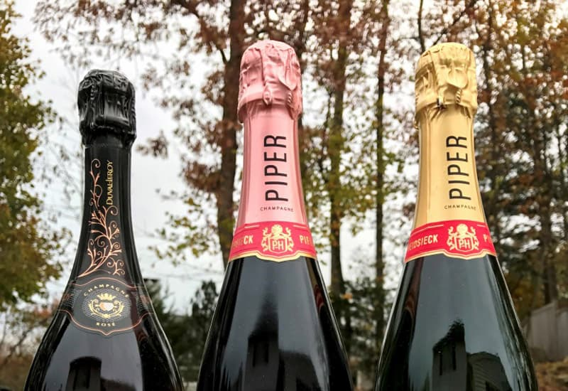 Different Champagnes Of Piper Heidsieck