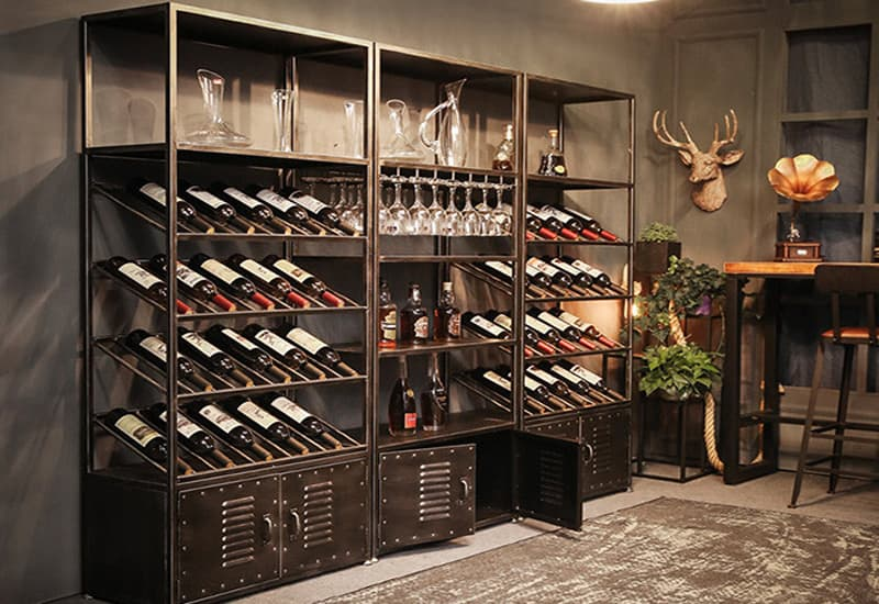 Wine Cabinet Shelving Layout and Material