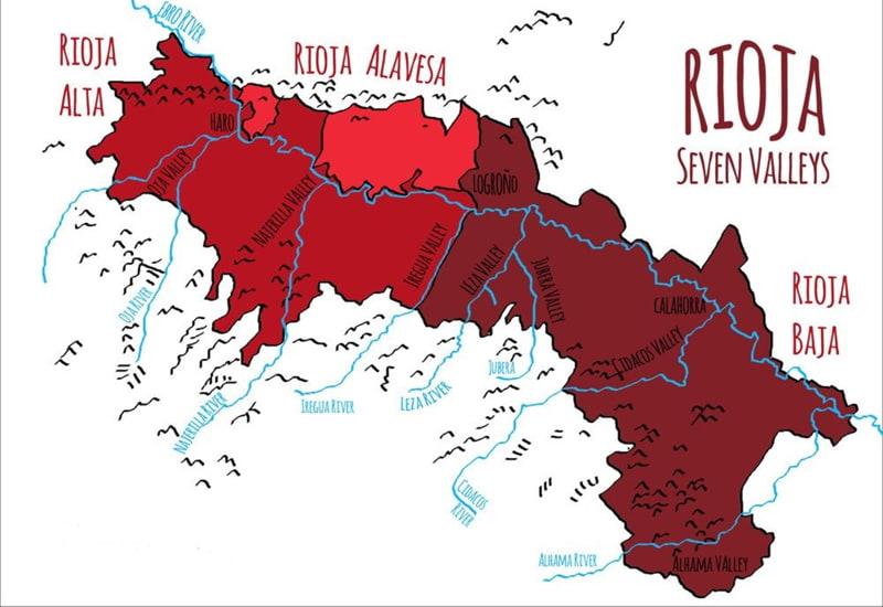 Sub-Regions of The Rioja Wine Region