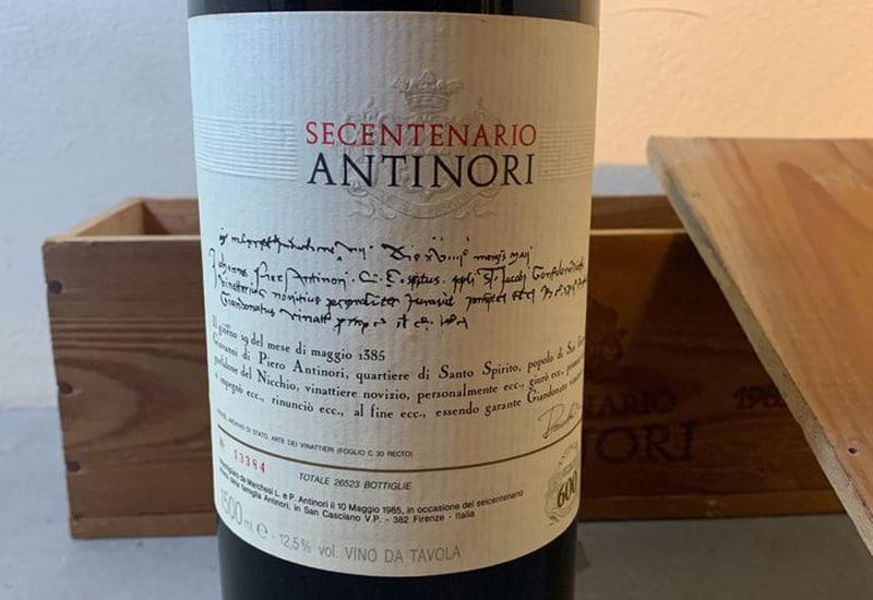 1985 Marchesi Antinori Secentenario, Vino da Tavola