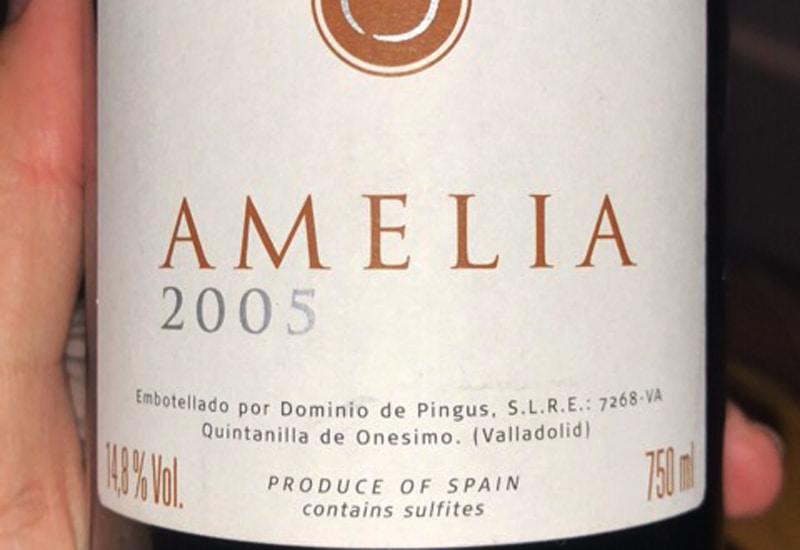 2005 Dominio de Pingus 'Amelia' Ribera del Duero, Spain