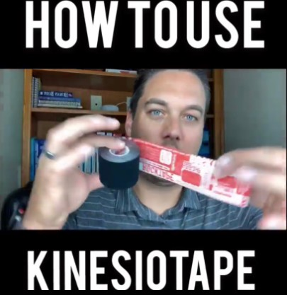 Screenshot of instagram video of how to use kinesiotape