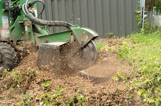 stump grinding commercial