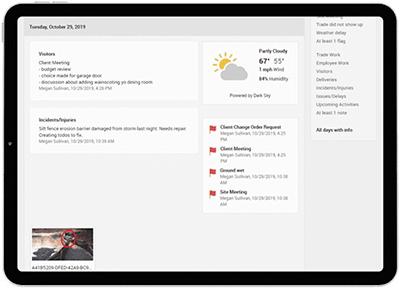 CoConstruct Track Jobsite Activity & Progress tablet screenshot