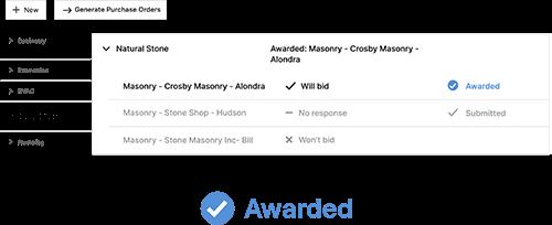 CoConstruct bidding software feature screenshots