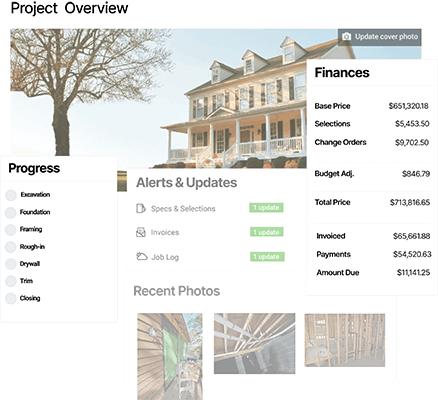 CoConstruct communication software feature screenshots