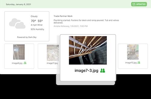 CoConstruct job log software feature screenshots