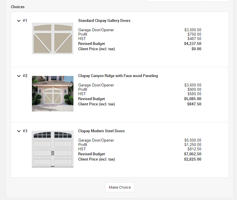 CoConstruct construction management software selections feature