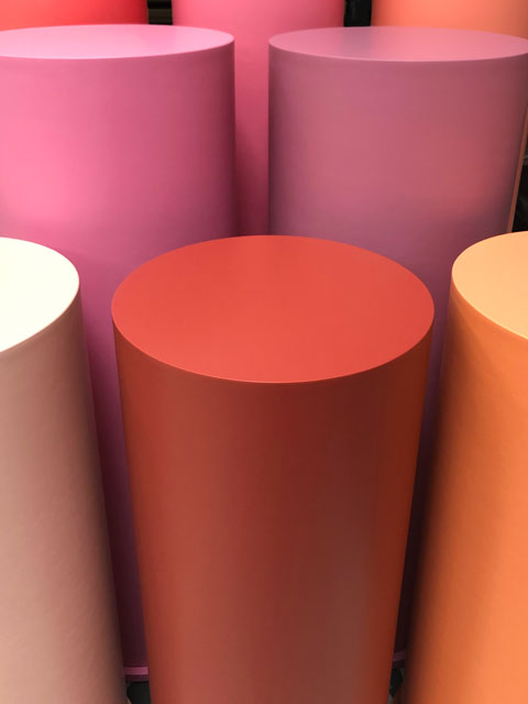 photo of some colourful plinths