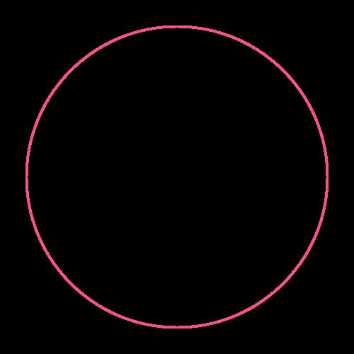 A pink circle