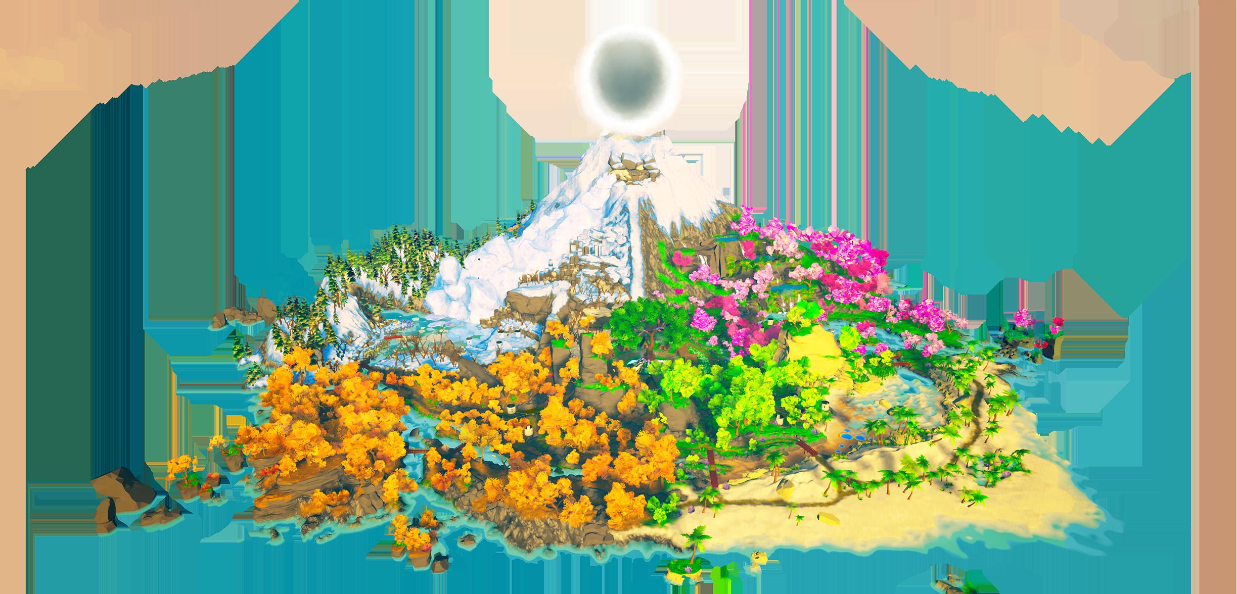 the virtual island