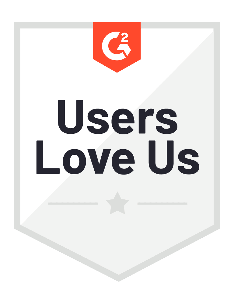 G2 Badge for Users Love Us
