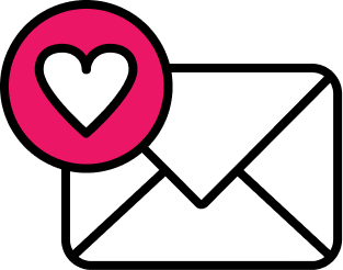 A mail emoji with a heart on it