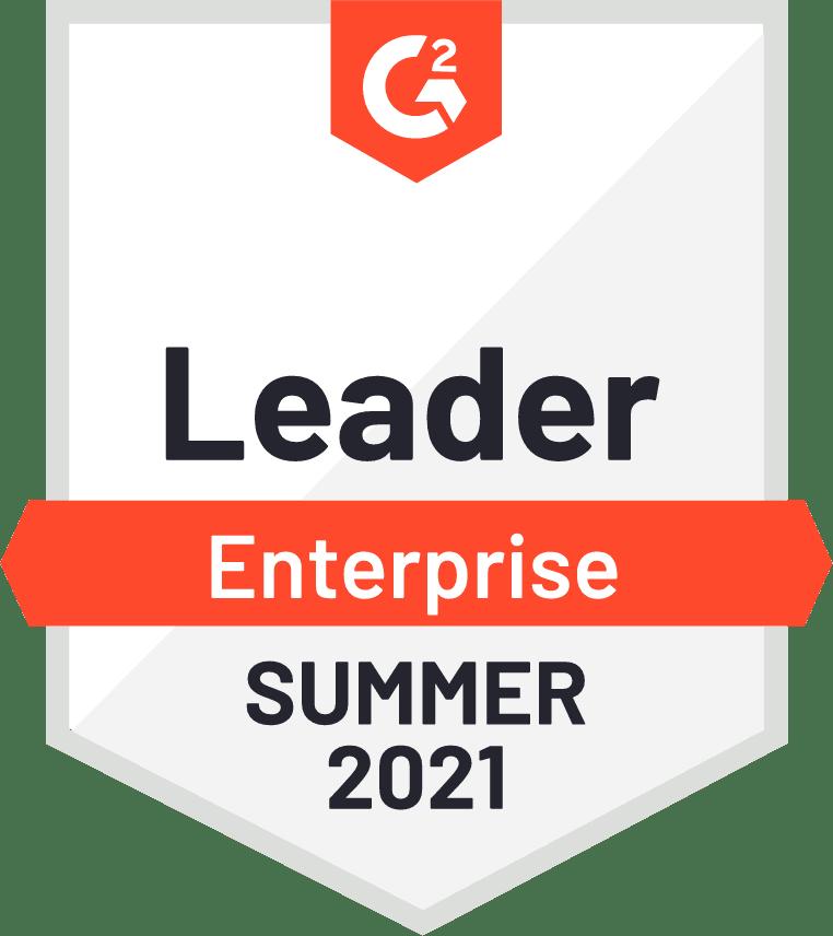 G2 Badge, Leader, Enterprise, Summer 2021