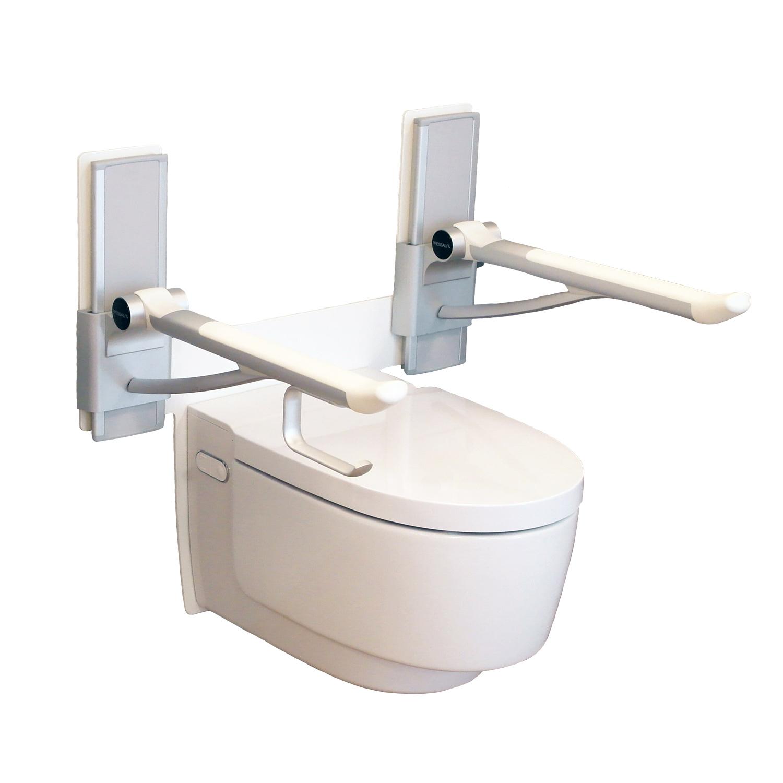 Brakett vist sammen med toalettstøtter og toalett (medfølger ikke)
