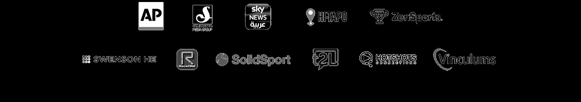 multiple brand logos - bambuser live video shopping