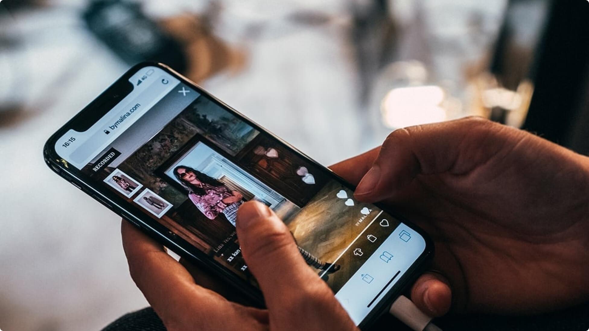 Bambuser screenshot on phone - bambuser