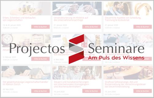 Projectos Seminare - Weiterbildung Steuern