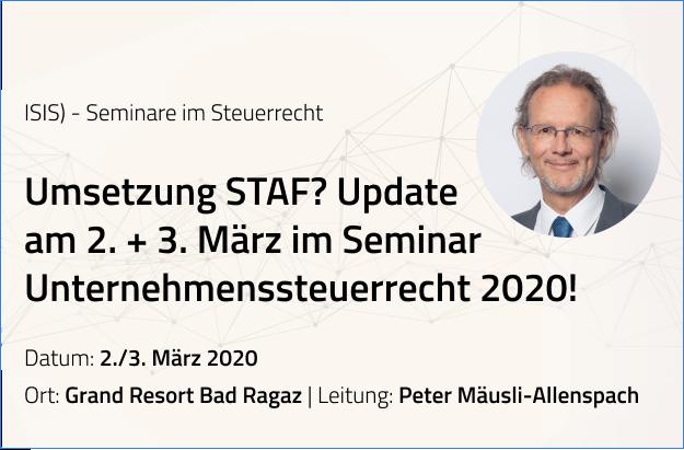 ISIS – Seminar zum Unternehmenssteuerrecht (März 2020)