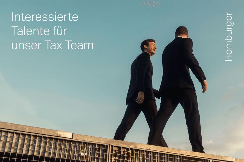 Homburger – Juristinnen und Juristen für unser Steuerteam