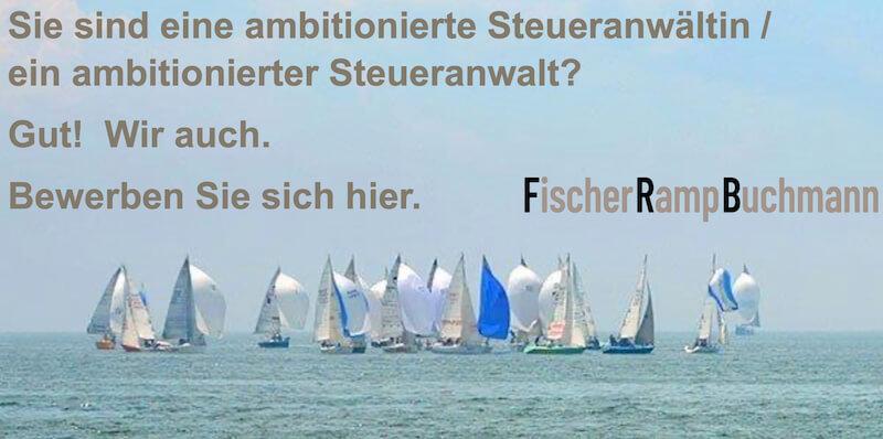 Fischer Ramp Buchmann – Steueranwältin oder Steueranwalt gesucht