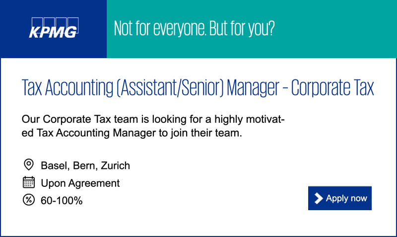 Tax Accounting (Assistant/Senior) Manager – Corporate Tax – KPMG