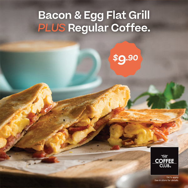 Bacon and egg flat grill combo