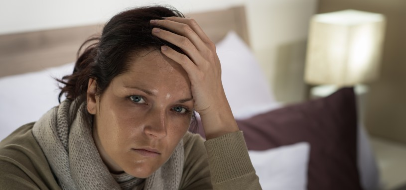 woman suffering through the physical effects of withdrawal